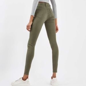 🎉Topshop Moto Jamie High Rise Army Green Jeans🎉